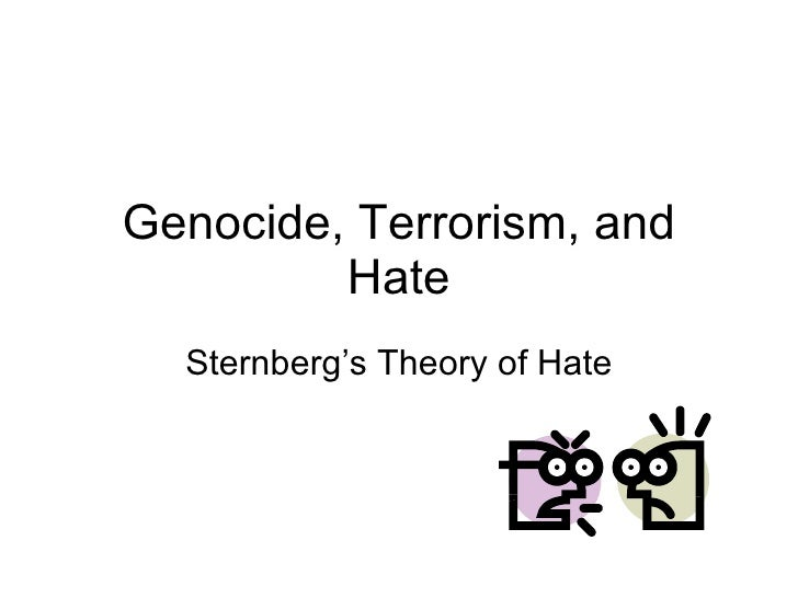 Genocide, Terrorism, and Hate Sternberg's Theory of Hate