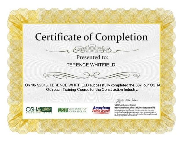 Osha 30 Hour Certification