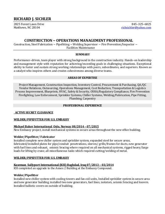Lovely Pipefitter Resume Philippines Gallery Examples