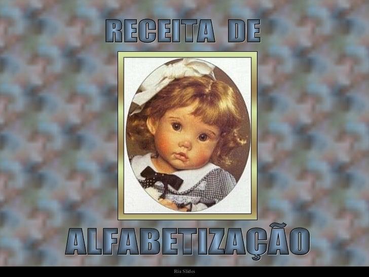RECEITA  DE  ALFABETIZAÇÃO