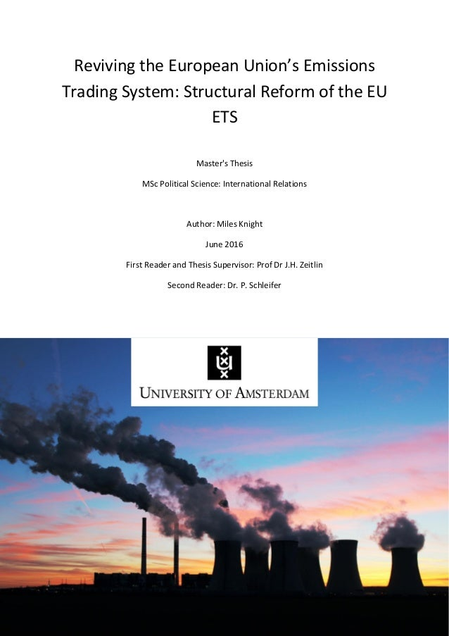 European union emissions trading system (eu ets)