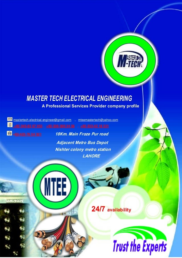 MASTER TECH ELECTRICAL ENGINEERING A Professional Services Provider company profile mastertech.electrical.engineer@gmail.c...