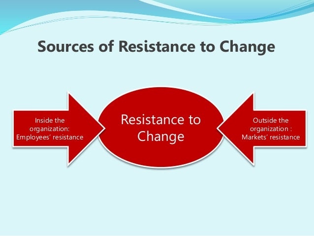 employee resistance to change essay Caused the phenomenon of resistance to change, with different  generally, the  full-time staff dedicated to the implementation of the ifrs project promoted.