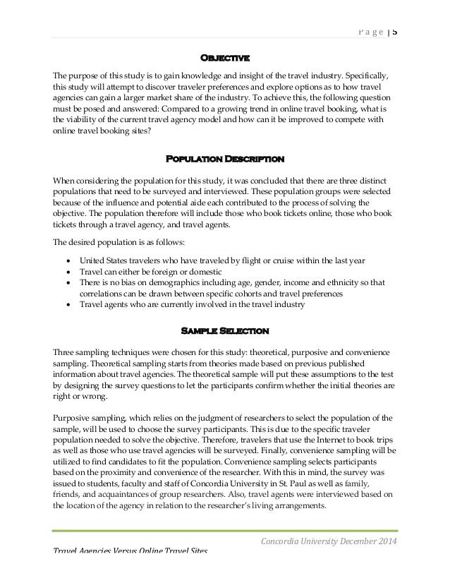 Traveling research paper