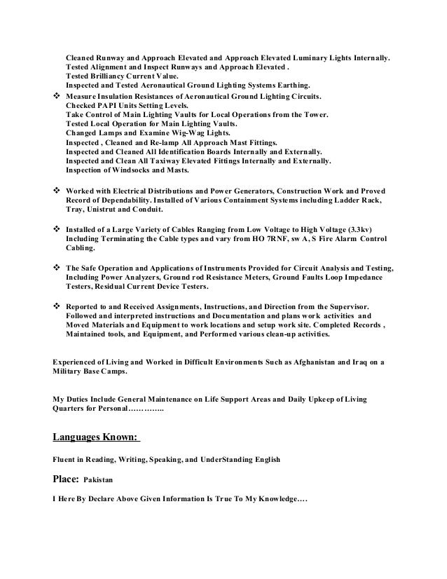 Resume For Electrician] Unforgettable Journeymen Electricians Resume ...