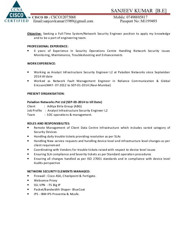 Robert Larson Resume     Professional Network Engineer Resume Samples   Entry Level Network  Engineer Resume Sample