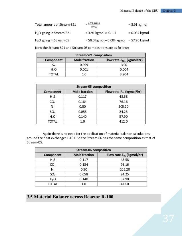 Chapter 004, Material Balances