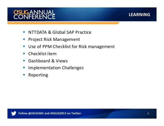 2803_ASUG_AC_Plan_and_Manage_Risk_with_SAP_PPM Slide 2