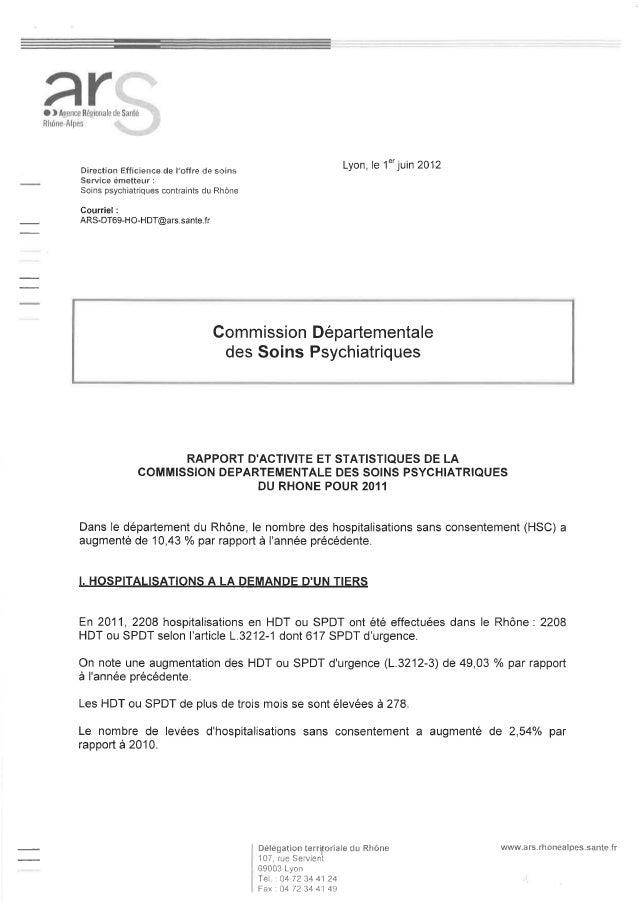 69 rapport activité cdsp 2011