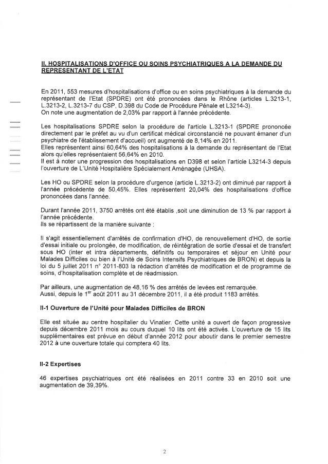 69 rapport activité cdsp 2011 Slide 2