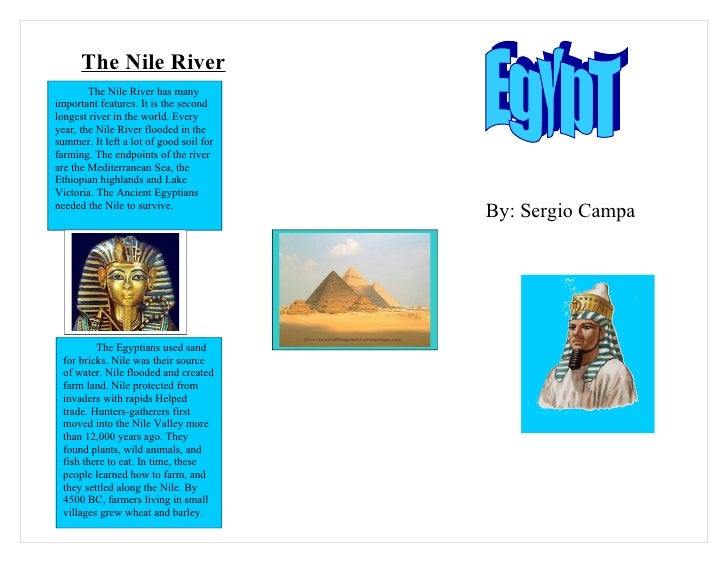 6a egypt brochure sergio campa for Ancient egypt brochure