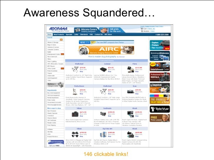 Awareness Squandered…   146 clickable links!