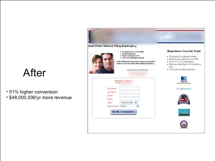 After <ul><li>51% higher conversion </li></ul><ul><li>$48,000,000/yr more revenue </li></ul>