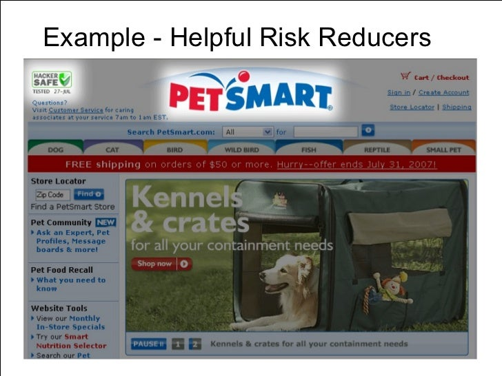 Example - Helpful Risk Reducers