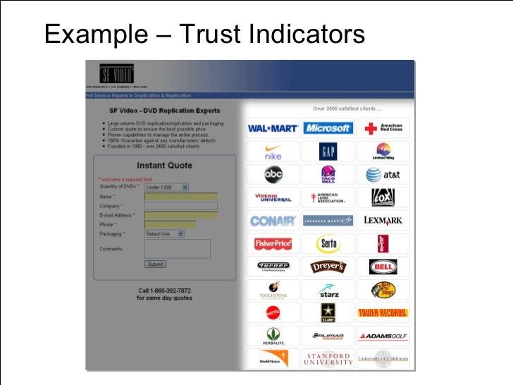 Example – Trust Indicators