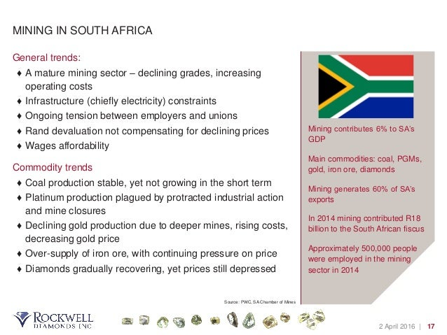 south african diamonds a growing industry Diamonds are a girl's best friend diamonds are a girl's worst friend as the diamond mining industry is embarking on a path of recovery and undergoing major reforms after the demise of the de .