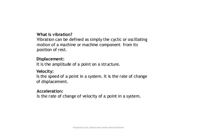 Machine Vibration Analysis Slide 2