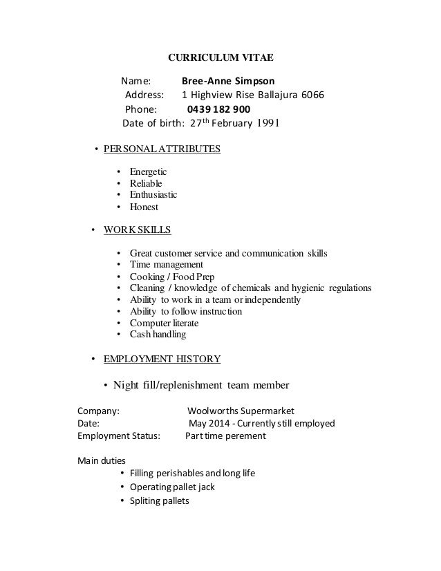 night fill resume