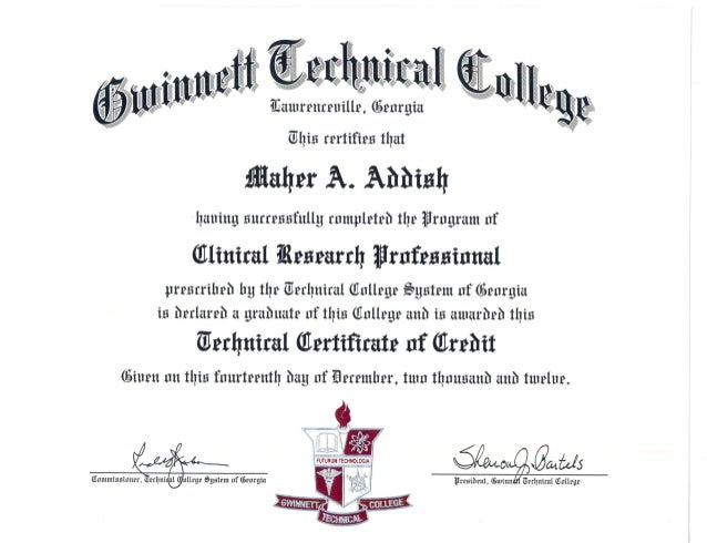 Clinical Research Certification Gwinnett Techllege0001