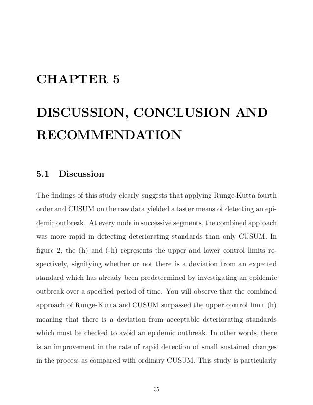 Dissertation chapter 5 conclusion