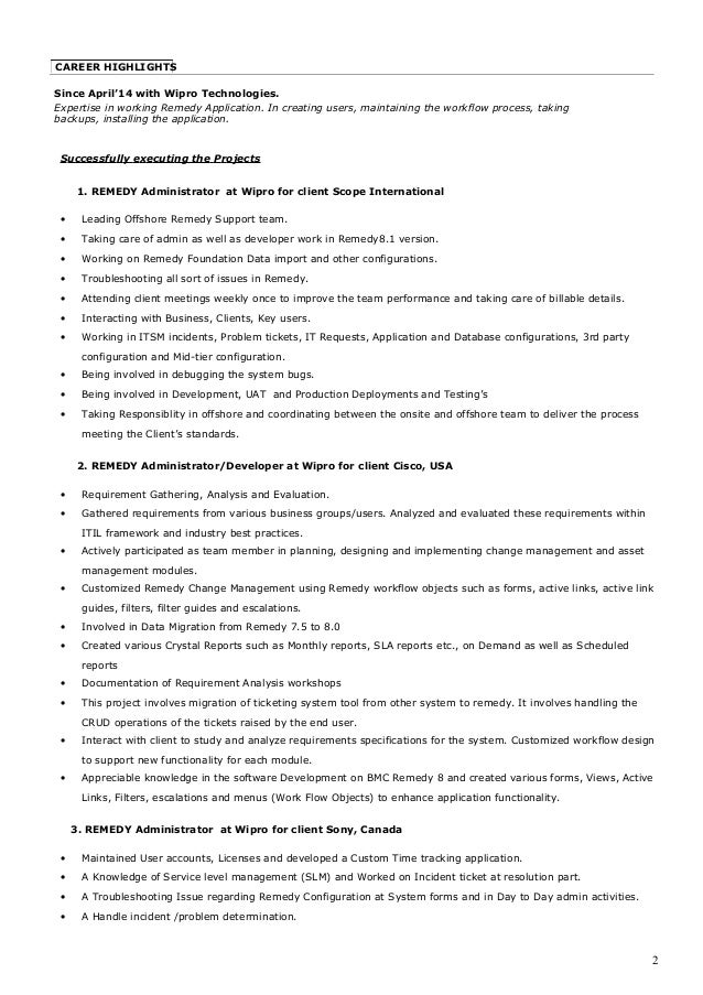Bmc Remedy Task Management System Administrators Guide. Church Hostess Cover  Letter ...