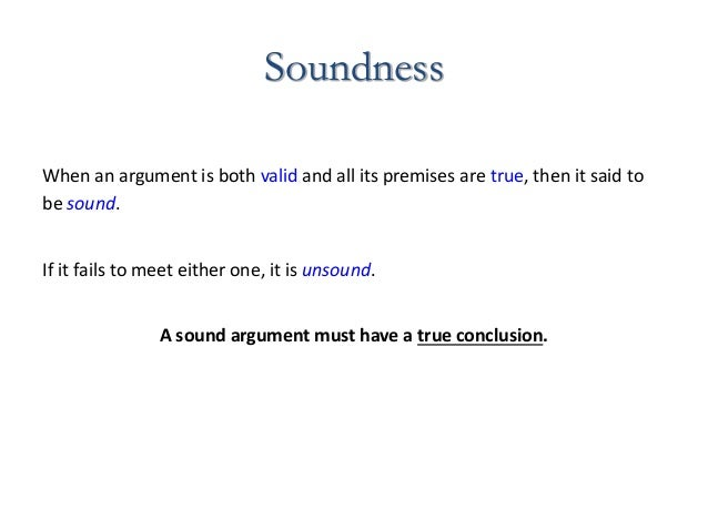 what is a sound argument