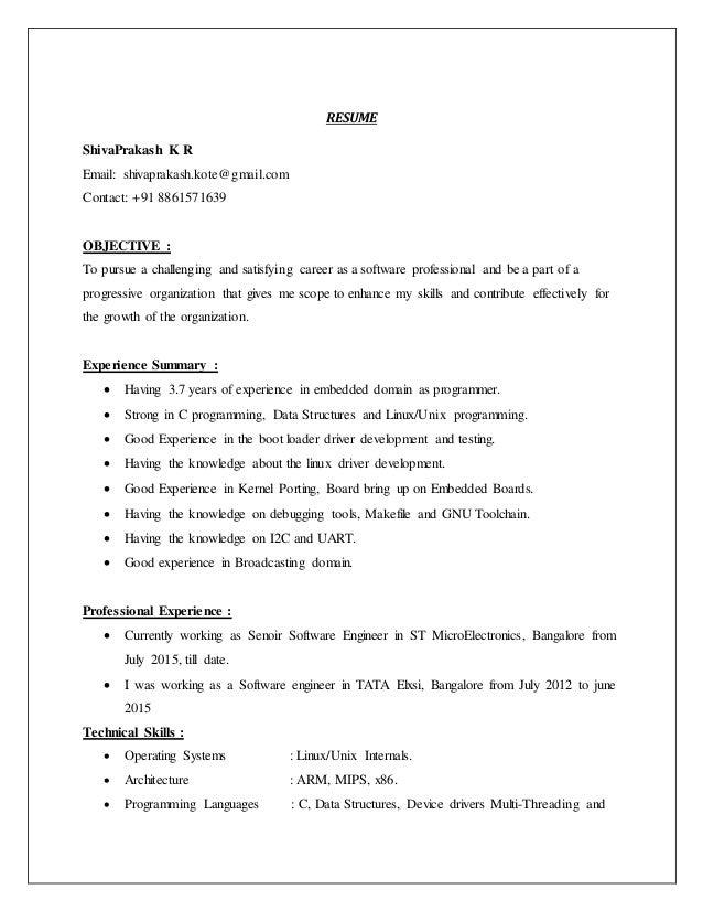 Shivaprakash_KR_Resume