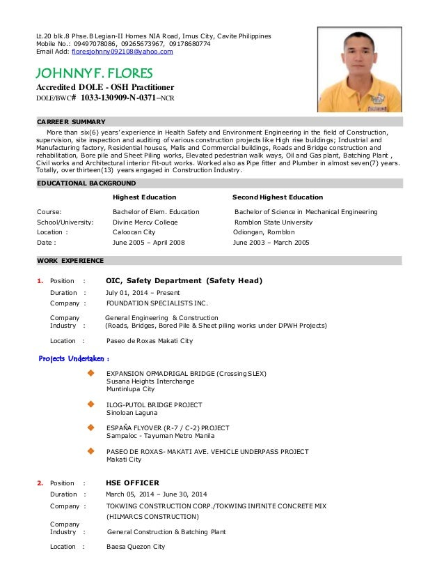 Pipefitter Resume Philippines robert apilado updated resume – Pipefitter Resume Samples