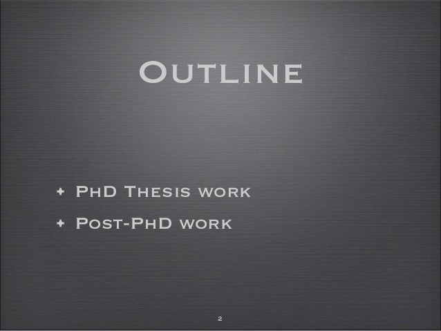 Phd thesis in network security