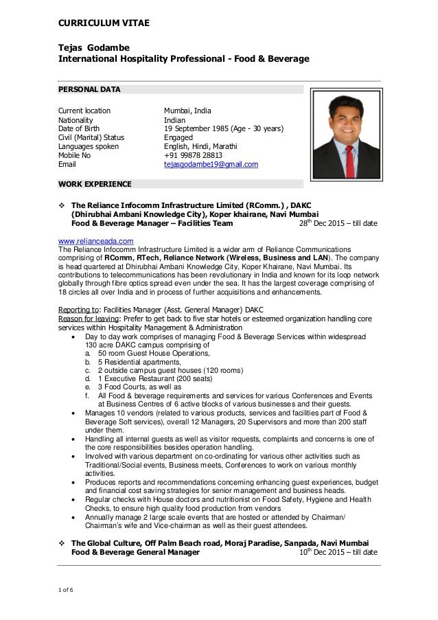 tejas resume july 2016