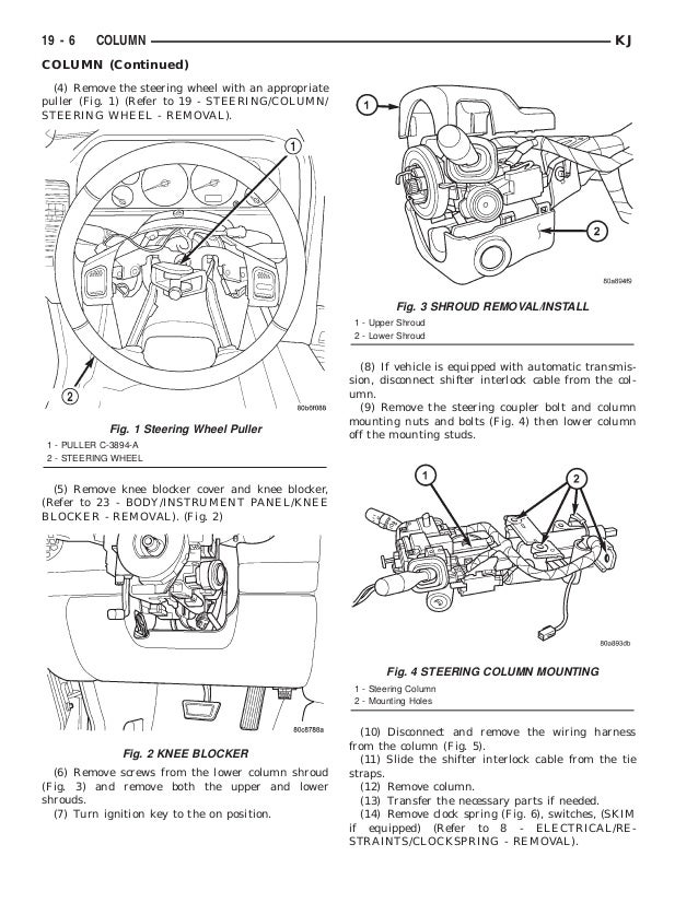 Service Manual Diagrams To Remove 2003 Jeep Wrangler