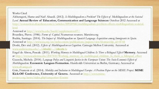 articles upon multilingualism
