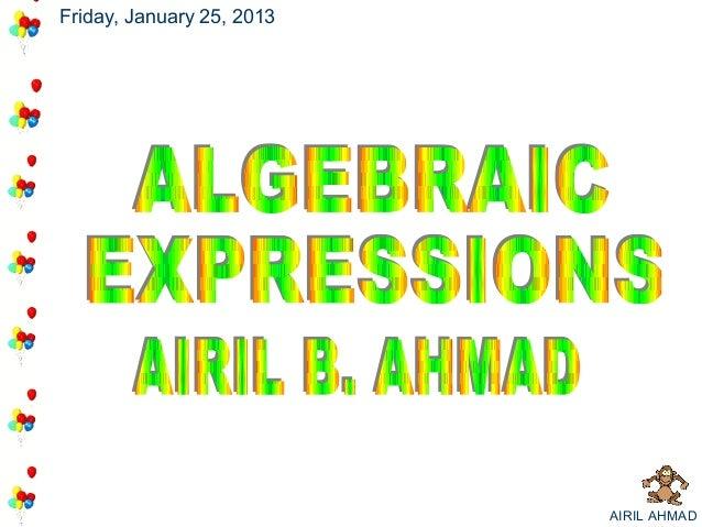 Friday, January 25, 2013                           AIRIL AHMAD