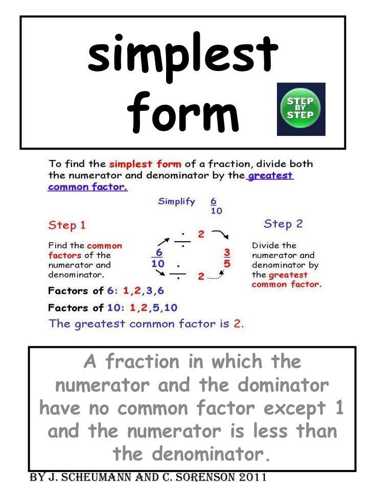 simplest form in algebra  9 algebra mca