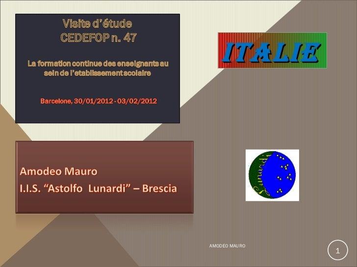 AMODEO MAURO  ITALIE