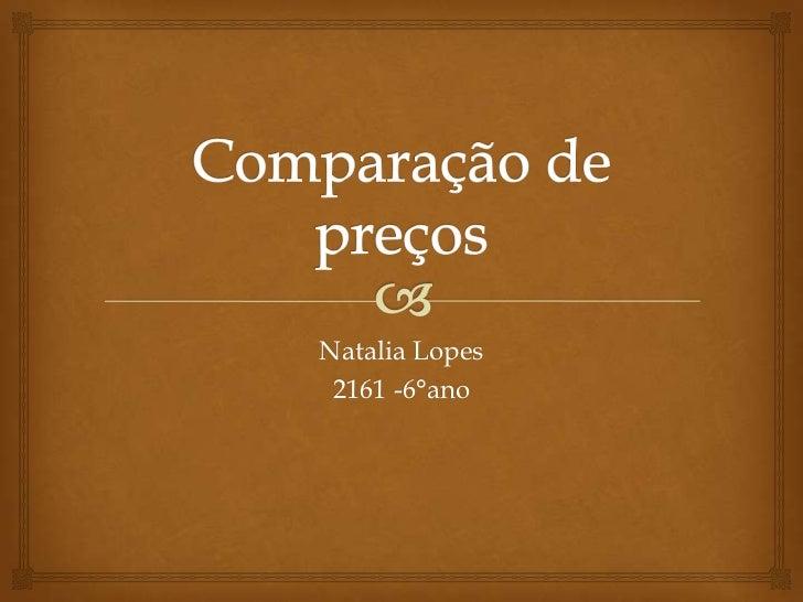 Natalia Lopes 2161 -6°ano