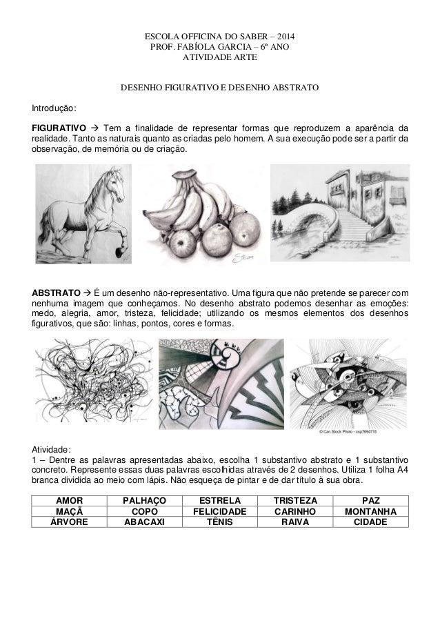 Desenho abstrato e figurativo
