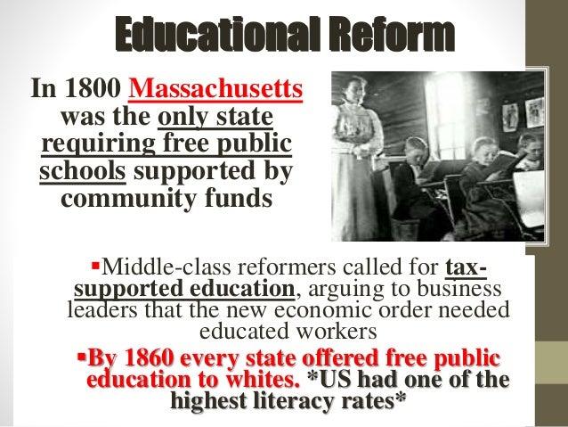antebellum education reform