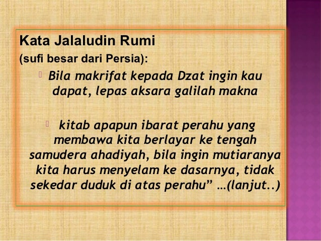 Kata Mutiara Jalaludin Al Rumi Qwerty