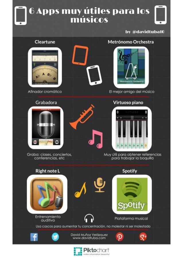 6 Apps muy útiles para los músicos  by @davidtubaI0  Cleartune Metrónomo Orchestra  Metrónomo Orchestra  Afinador cromátic...