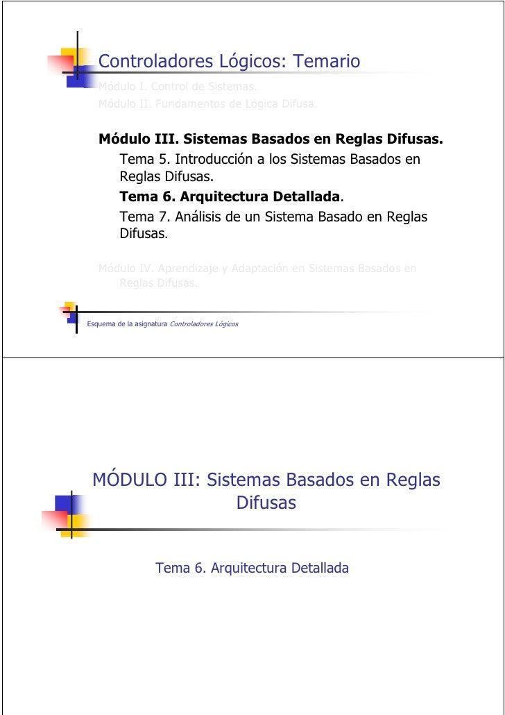 Controladores Lógicos: Temario    Módulo I. Control de Sistemas.    Módulo II. Fundamentos de Lógica Difusa.      Módulo I...