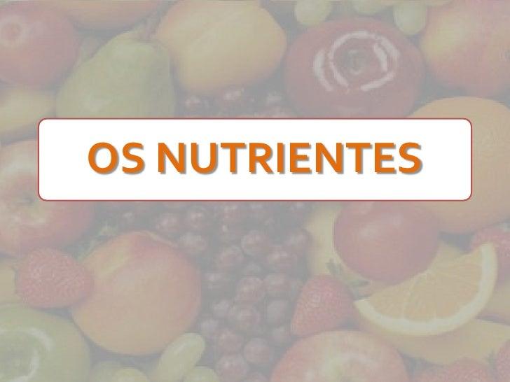 6a série   os nutrientes