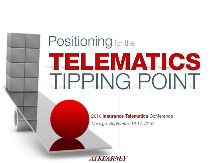 2010 Insurance TelematicsConference<br />Chicago, September 13-14, 2010<br />