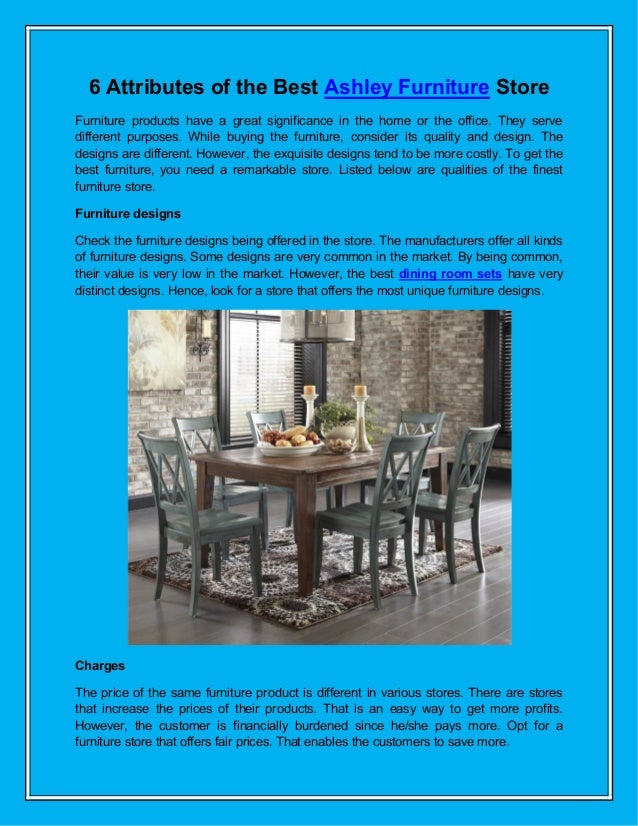 6 Attributes Of The Best Ashley Furniture Store