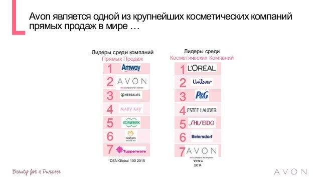… и крупнейшей косметической компанией прямых продаж в России …и тиражом каталога более 44 000 000 экземпляров в год …с ул...