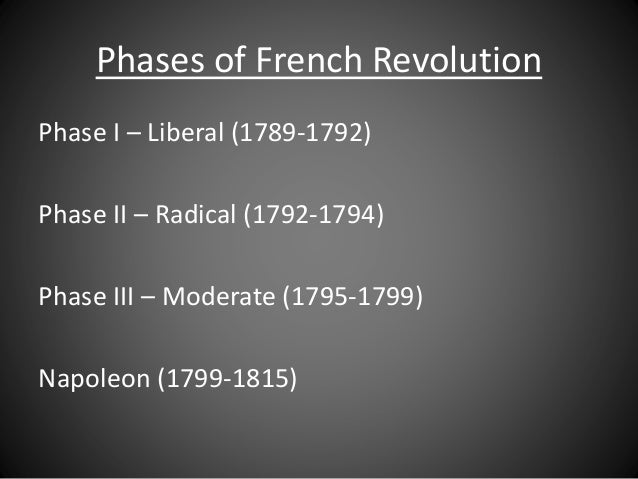 an examination of the radical stage of the french revolution Free term papers & essays - the radical stage of the french revolution, history other.