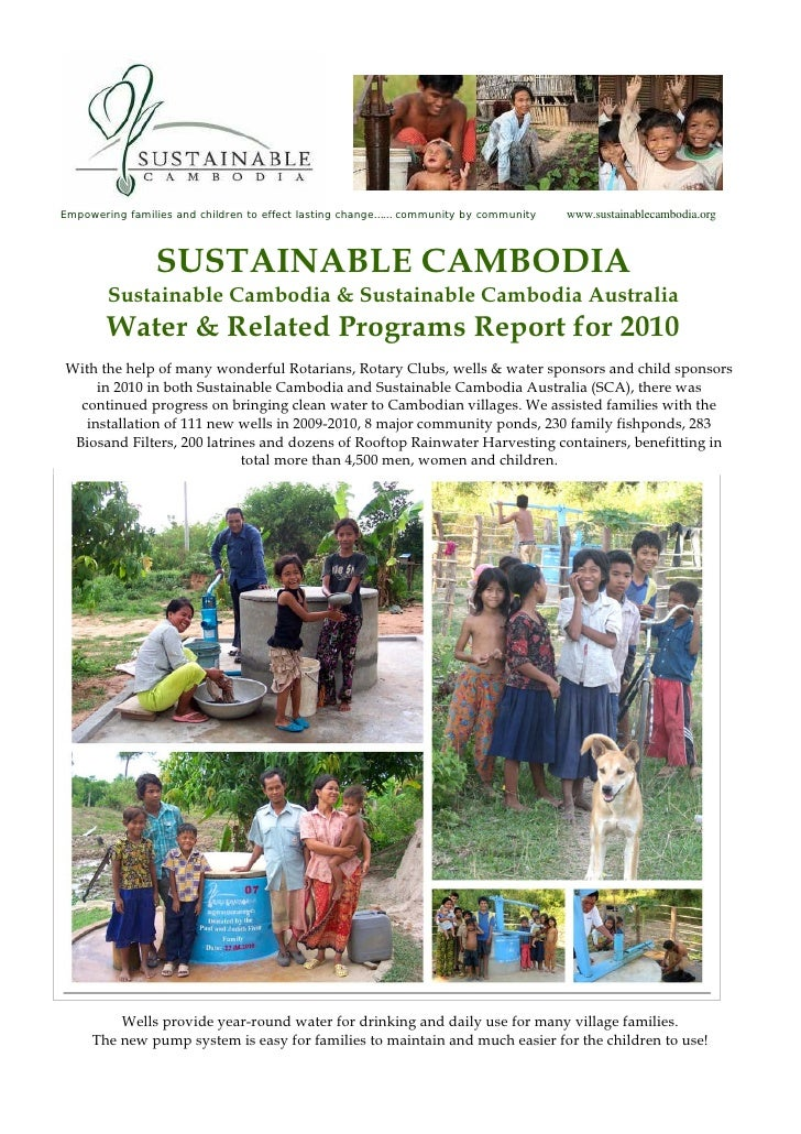 Empowering families and children to effect lasting change…… community by community   www.sustainablecambodia.org          ...