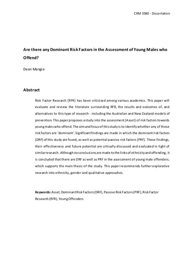 Doctoral dissertation abstract