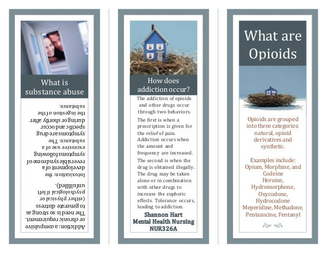 drug brochure template - teaching pamphlet opioids