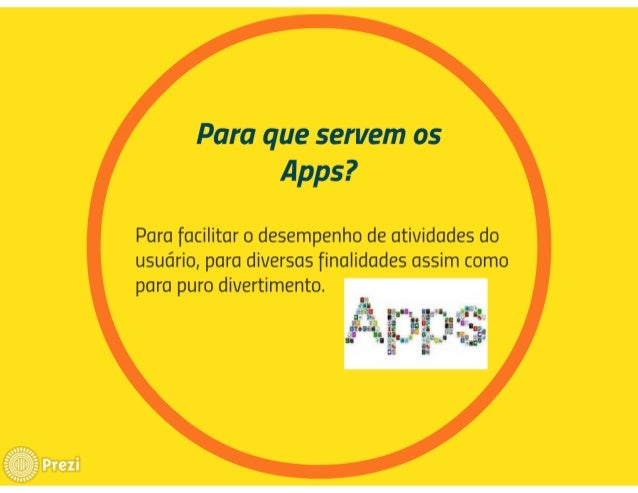Para que servem os Apps?   Para facilitar o desempenho de atividades do usuário,  para diversas finalidades assim como par...